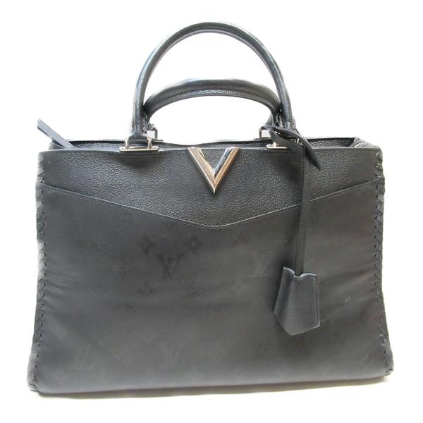 LOUIS VUITTON LV 路易威登 黑色牛皮手提斜背兩用包Very Zipped Tote M54147 BRANDOFF
