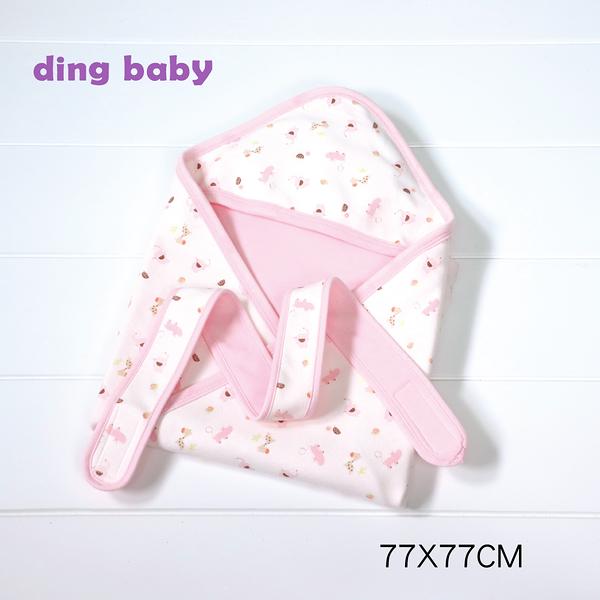 ding baby 繽紛樂園純棉四季包巾-粉 C-925934-P0