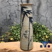 古風花瓶擺件陶瓷花瓶手繪復古青花瓷花器家居裝飾【古怪舍】