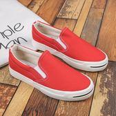 懶人鞋樂福鞋 一腳蹬帆布鞋學生平底百搭休閒鞋 巴黎春天