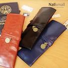 復古綁帶式筆袋 收納隨身包 文青風 創意 韓風 女孩 文具 3捲  韓國 簡約 皮質 鉛筆 化妝刷 大容量
