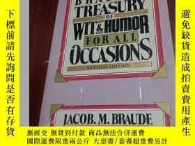 二手書博民逛書店英文原版書罕見Braude s Treasury of Wit