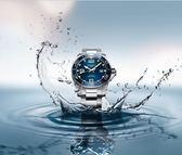 【送品牌禮物】 浪鬼潛水錶藍陶框L37824966/藍水鬼43mm