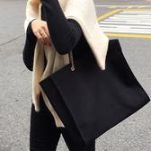 購物包 chic帆布包女單肩超大容量韓版金屬鏈條簡約百搭大購物包【韓國時尚週】