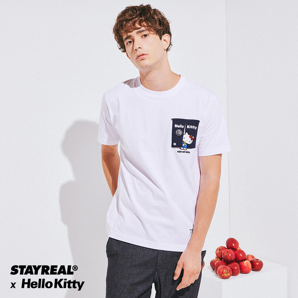 STAYREAL x HELLO KITTY 凱蒂小食堂T