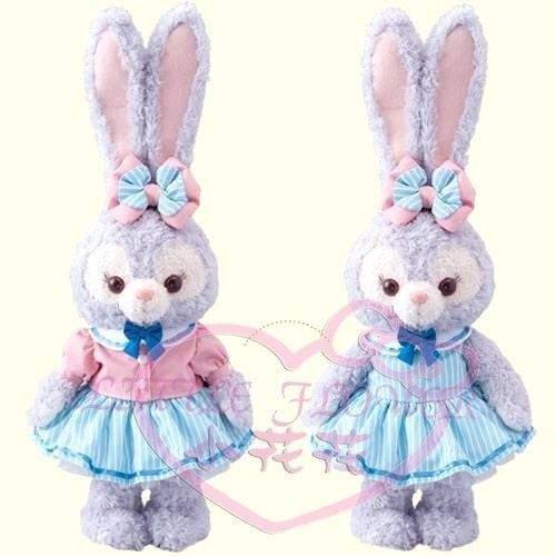 小花花日本精品迪士尼樂園限定達史黛拉兔兔娃娃布偶衣服套裝髮飾96531204