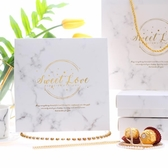 歐式結婚伴手禮盒創意高檔大理石婚禮