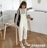夏裝新款韓版網紅同款寬鬆連體九分褲女百搭學生牛仔背帶褲潮 時尚芭莎