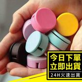 [24hr-台灣現貨] 韓國 馬卡龍 馬卡龍色 兩用 捲線器 手機 螢幕擦 耳機 集線器 繞線器 理線器