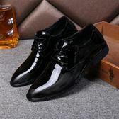 夏季休閒單鞋 英倫青年尖頭皮鞋 透氣男鞋【五巷六號】x169