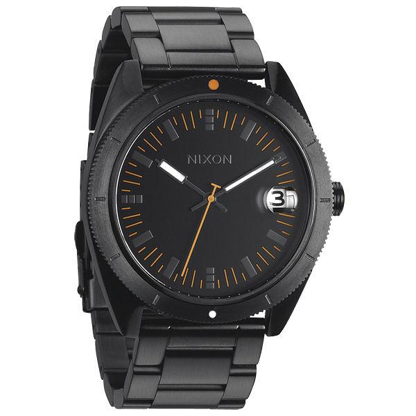 NIXON The ROVER SS 率性魅力時尚運動腕錶(鋼帶-螢光橘黑)