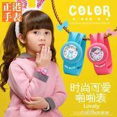 女童手錶防水3-4歲卡通可愛公主寶寶5-8歲小學生兒童拍拍捲尺手錶 小確幸生活館