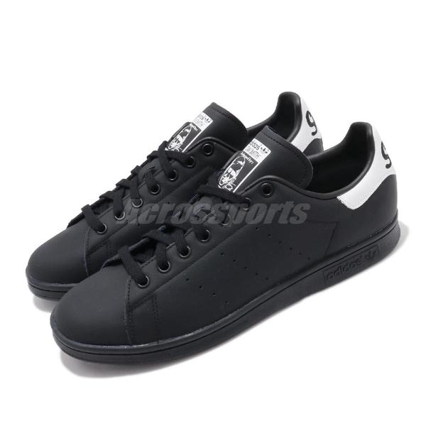 【六折特賣】adidas 休閒鞋 Stan Smith 黑 白 男鞋 運動鞋 後跟大LOGO【ACS】 EE5819