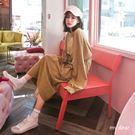 MD韓製-細橫紋縮口袖洋裝-3色【020...