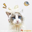 原創設計貓咪頭飾寵物生日帽子狗狗飾品可愛女仆貓頭套【小獅子】