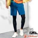 Wildland荒野 0A81382-46土耳其藍 男彈性抗UV運動短褲 排汗休閒褲/透氣五分褲/登山褲/球褲跑褲
