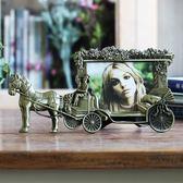 春季上新 歐式復古5寸照片金屬創意相框擺臺五寸兒童相片框像框相架照片框