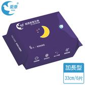愛康抗菌衛生棉夜用加長33cm6片【康是美】