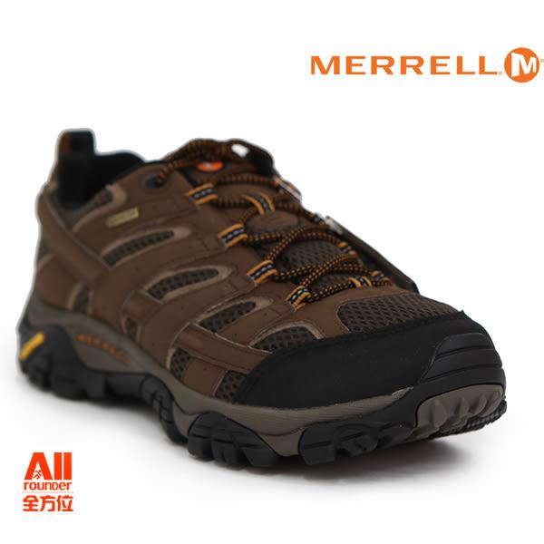 【Merrell】男款HIKING 郊山健行MOAB 2 GTX多功能系列 -棕色(06041)【全方位運動戶外館】