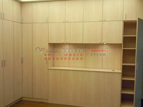 系統家具 系統櫃 衣櫃 床頭櫃 化妝台 橡木洗白 B0032