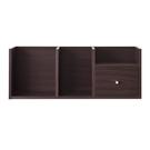 桌上架 書架【收納屋】優質堆疊收納架-胡桃木色& DIY組合傢俱