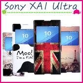 Sony XA1 Ultra G3226 彩繪開窗皮套 磁扣手機套 支架 翻蓋保護殼 可愛卡通手機殼 塗鴉保護套 可插卡