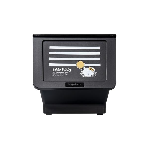 收納櫃 收納 衣櫃 玩具收納【R0196-A】白條紋黑底Kitty大嘴鳥整理箱23L(6入) MIT台灣製 樹德 收納專科