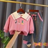 女童秋裝韓版寶寶兩件套兒童運動長袖套裝春秋季【淘嘟嘟】