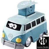 大眾巴士慣性按壓回力寶寶玩具仿真小汽車男女孩兒童軍綠色【Kacey Devlin】