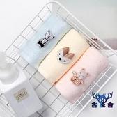 【2條裝】毛巾純棉洗臉巾家用柔軟吸水面巾卡通可愛【古怪舍】