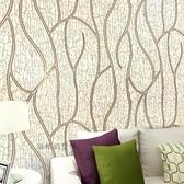 曲線條紋無紡布墻紙 3D立體電視背景墻壁紙 現代簡約臥室客廳墻紙