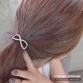 蝴蝶結鑲鑽交叉髮束 10301【櫻桃飾品】【10301】