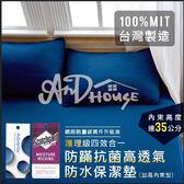 [AnD House] MIT四效合一加大床包透氣防水保潔墊-加高35公分內束6色任選