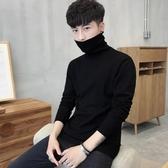 男士修身打底衫高領毛衣針織衫加絨韓版秋冬季線衣外套加厚男裝潮