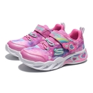 SKECHERS 童鞋 休閒鞋 SWEETHEART LIGHTS 粉 發光 燈鞋 小童(布魯克林) 302663NPKLV