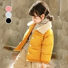 時尚絨毛領羽絨棉保暖外套 童裝 外套