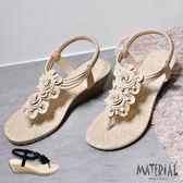 涼鞋 清新自然花朵品味楔型涼鞋 MA女鞋 T3722