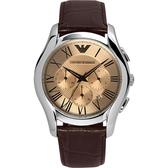 Emporio Armani 亞曼尼 Classic 羅馬計時手錶-咖啡 AR1785