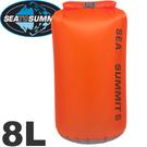 【Sea To Summit 澳洲  30D 輕量防水收納袋8L橘】STSAUDS8/收納袋/裝備袋