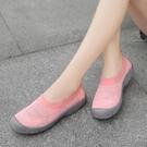 大碼夏季鏤空透氣一腳蹬懶人媽媽休閒運動鞋輕便舒適老北京布鞋女 韓國時尚週