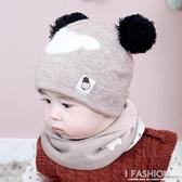 嬰兒帽子秋冬0-3-6-12個月新生兒帽男童韓版加厚保暖女寶寶毛線帽-Ifashion