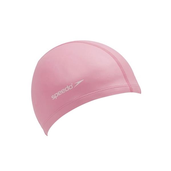 SPEEDO 成人合成泳帽粉紅(彈性泳帽 游泳 海灘 戲水 免運≡排汗專家≡