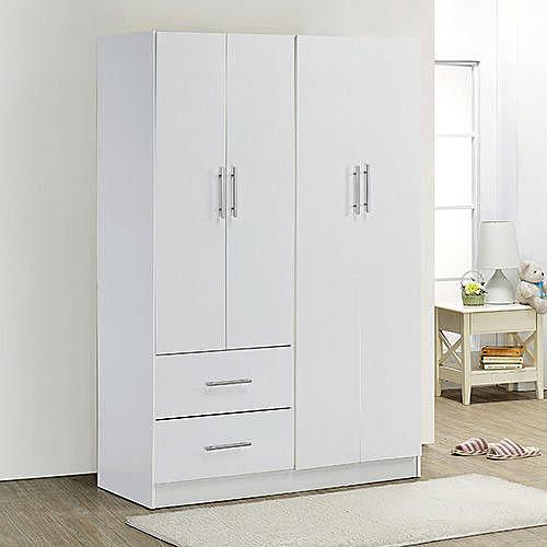 《百嘉美》H-時尚白環保低甲醛四門二抽衣櫃 衣櫃 收納櫃 置物櫃 櫥櫃