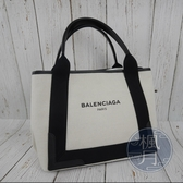 BRAND楓月 BALENCIAGA 巴黎世家 339933 黑白帆布手提包