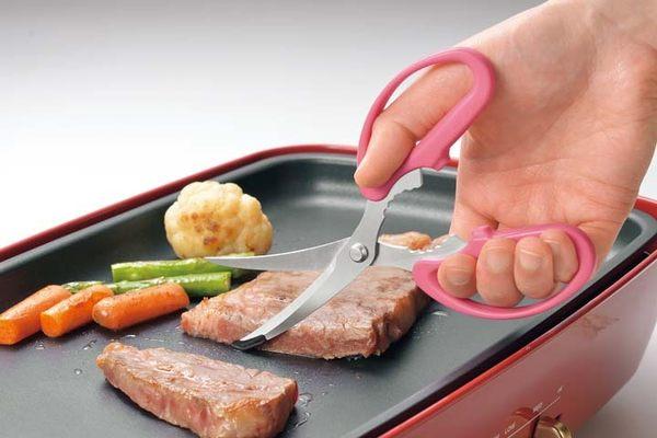 日本製 下村工業 熱板 電烤盤韓國烤肉專用剪刀402599通販屋
