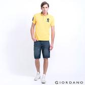 GIORDANO 男裝丹寧修身牛仔短褲(附腰帶) - 81 深藍
