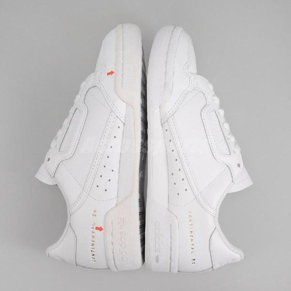 【US4.5-NG出清】adidas 休閒鞋 Continental 80 白 金 男鞋 女鞋 中底色差 運動鞋 小白鞋 【ACS】