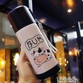 奶牛保溫杯女不銹鋼男學生可愛韓版復古個性韓國小清新少女保溫杯 Ifashion