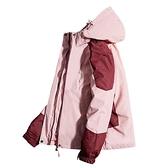 戶外衝鋒衣女三合一兩件套可拆卸冬季男防風防水樂淘淘