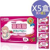 ◤最低價650/盒◢孕哺兒 清新蔓越莓機能性輔助食品 3公克x24包入 買4送1共5盒